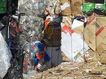Reciclaje cartón y plástico